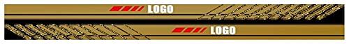 Strisce Laterali Per Portiera 2pcs Adesivi per auto Gonna laterale Stripe Stripe Vinyl Film Decorazione compatibile con Volvo Rdesign C30 C70 S40 S60 S80 S90 V40 V60 V90 XC30 XC40 XC60 Decalcomania