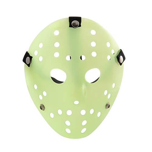 Si Illumina Al Buio Sofisticato Costume Jason X vS Freddy Halloween Venerdì 13 Maschere Hockey Adulti PVC Elastico Cinturino Di Qualità Maschera di Ha