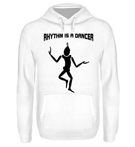 Shirtee Tänzer - Rhythm is a Dancer - Unisex Kapuzenpullover Hoodie