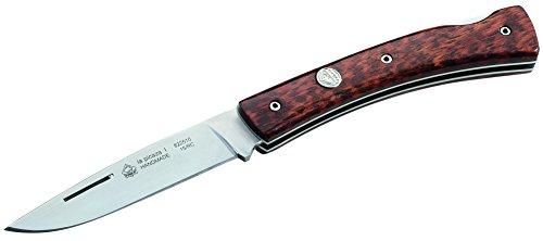 Puma IP Couteau de Poche en Acier 1.4116, 58 HRC, Back Lock, Manche en Bois de Serpent, Multicolore, Taille Unique