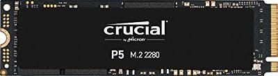 Crucial P5 1TB CT1000P5SSD8 Unidad interna de estado sólido-hasta 3400 MB/s (3D NAND, NVMe, PCIe, M.2, 2280SS)
