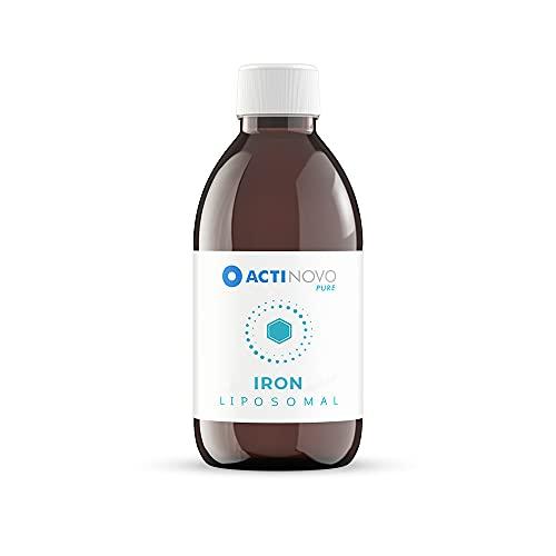 Eisen | 25 Tagesdosen à 15 mg Eisen | Vegan | 250 ml | Hochdosiert & laborgeprüft | Wirksamer als Kapseln & Tabletten | Liposomal | Glutenfrei | Made in Germany