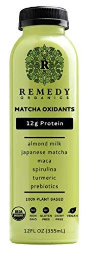 Remedy Organics Matcha Oxidants 12-Pack | Plant Based Protein Shakes, Ready to Drink | USDA Organic, Gluten Free, Dairy Free, Soy Free