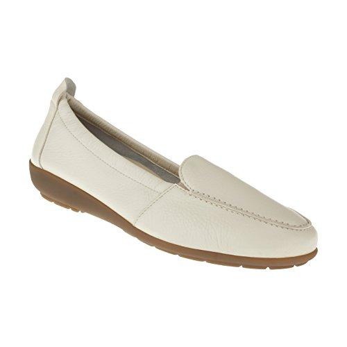 Natural Feet Damen Mokassin Marie | Echtes Hirschleder | Weite H | Hallux geeignet 39 beige