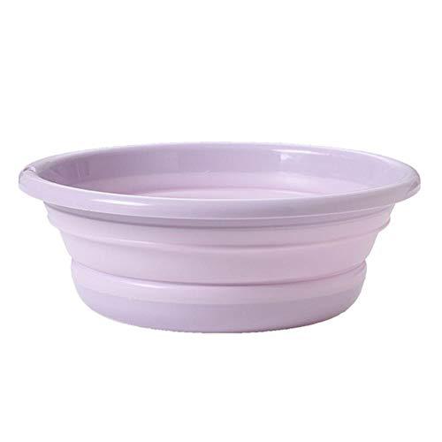 Wastafel, draagbaar, opvouwbaar, rond, voor badkamer, wastafel, voor camping, bleken, reizen, violet M