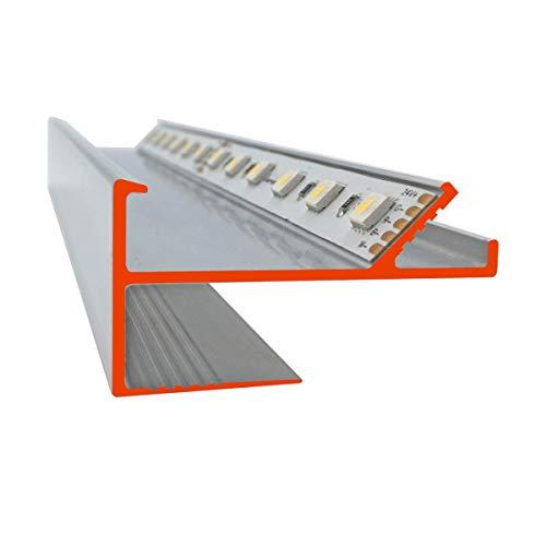 iluminize LED Trockenbau-Profil zum Herstellen einer Lichtvoute für 12,5 mm Gipsplatten, 150 cm lang (VT Lichtvoute)