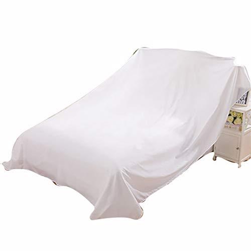 Bett Staubschutz Möbel Schutzhülle Vlies Atmungsaktiv Mehltau Abdeckung Bett Sofa Möbel Abdeckung | Weiße Farbe | Bewegliche Decke | 100-700Cm,200Cm*240Cm
