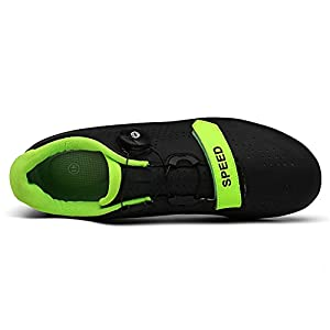 Men's Road Bike Cycling Shoes Spin Shoes with Compatible Cleat Peloton Shoe with SPD and Delta for Men Lock Pedal Bike Shoes Black 9.5