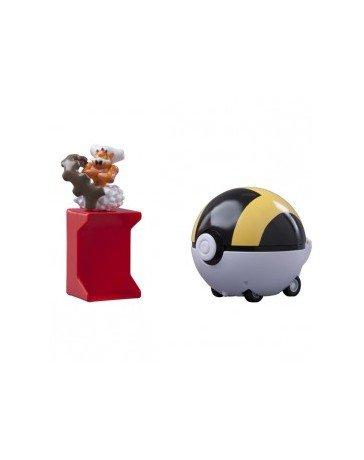 Figurine 'Pokemon Black and White' - Catch'N Train Pokeball 5 Cm Demeteros/Hyper Ball