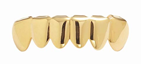 Best Grillz-14k Gold Plated Teeth Grillz for Mouth Top Bottom(Gold) (S001 FHG) …