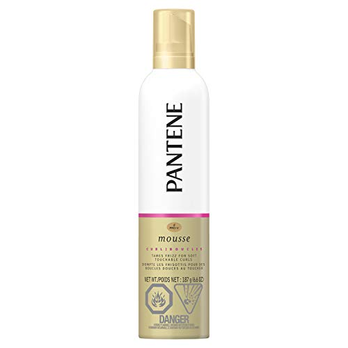 Pantene Pro-V Curl Mousse to Tame Frizz for Soft, Touchable Curls, 187 g