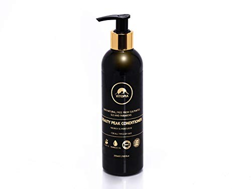 Beauty Peak Natural Hair Growth Conditioner, Professional Hair Conditioning Treatment Nourish and Moisturise for All Hair Types, Safe for Coloured Hair, Rich in Argan Oil, Olive Oil and Wheat Protein