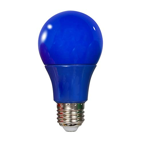 Wankd LED Farbe Glühbirne, 5er Pack Farbige Glühbirnen LED 5W E27 Beleuchtung Glühbirnen, farbige LED Leuchtmittel Birnenform, Dekoratives Licht und Design,Party Glühbirnen (Blau)