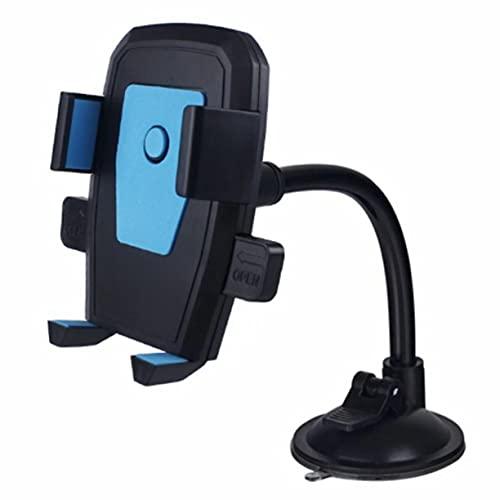 Bellaluee Soporte para teléfono móvil Giratorio de 360 ° Manguera Multifuncional Ventosa Soporte para teléfono móvil Bloqueo de teléfono de Vidrio Accesorios para automóvil Soporte para teléfono