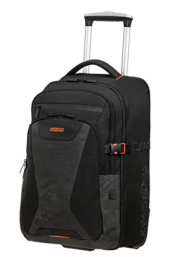 American Tourister At Work Mochilas para Laptop, 15.6 Zoll Camo (52 cm - 37 L), Schwarz (Black)