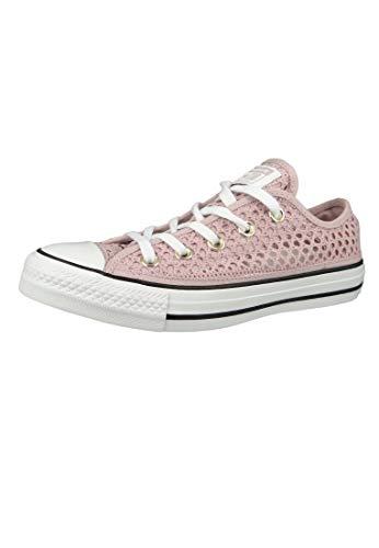 Converse Chucks Pink 564872C Chuck Taylor all Star - Ox Plum Chalk Bianco Nero, Taglia:41