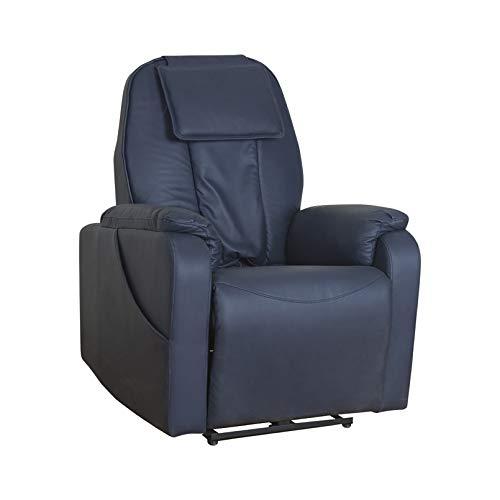 LHONG Sillon Relax electrico reclinable de Masaje con Cuero PU, Mando a...