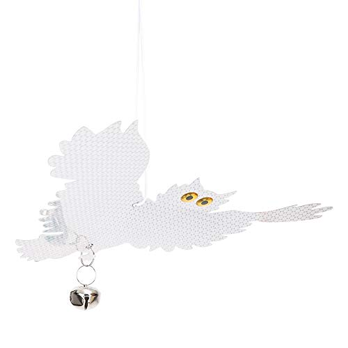 GAESHOW Owl Shape Bird Repellent Hanging Reflective Deterrent Control Scare Device for Garden Reflective Repel Bird Protective Repel
