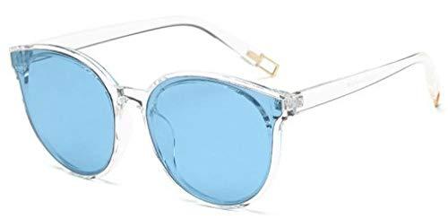 hqpaper Gafas de sol polarizadas con montura redonda, estilo caliente, gafas de sol de viaje de moda para mujer, montura transparente, azul marino