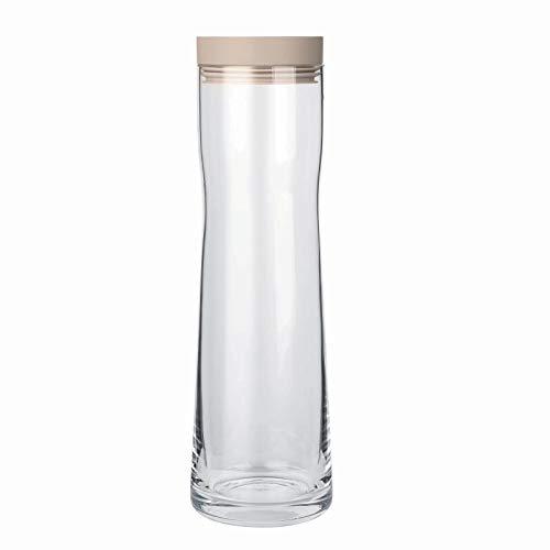 Blomus Splash glazen waterkaraf Vol. 1 liter met verschillende gekleurde deksels, selectie: Nomad