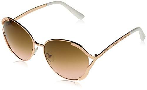 Southpole 101010SP anteojos de sol de metal con ventilación de tamaño grande, para mujer, 100% protección UV, 60 mm, Rose gold, 60...