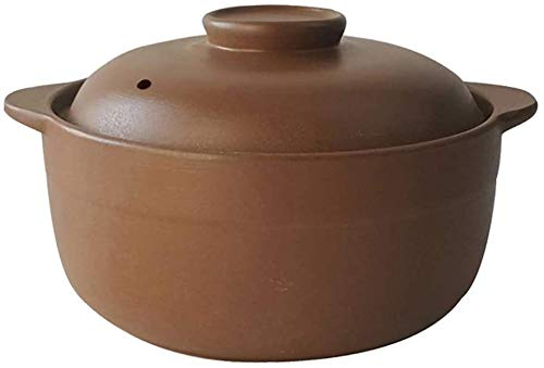YYhkeby Unglazed Ceramic Casserole with Lid,Handmade Clay Pot Earthen Pot Onion Soup Crocks Stockpot for Slow Cooking A 4.23Quart Jialele (Color : A, Size : 0.84Quart)