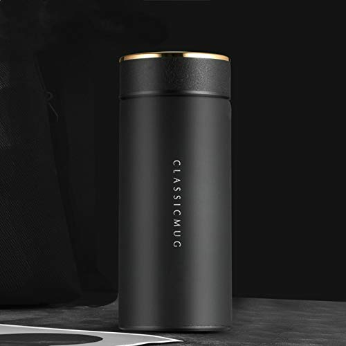 JJTXSQSMQM Thermos Bottle 500ML Thermos Temperature Display 304 Stainless Steel hot Water Bottle travel Coffee Mug Thermos