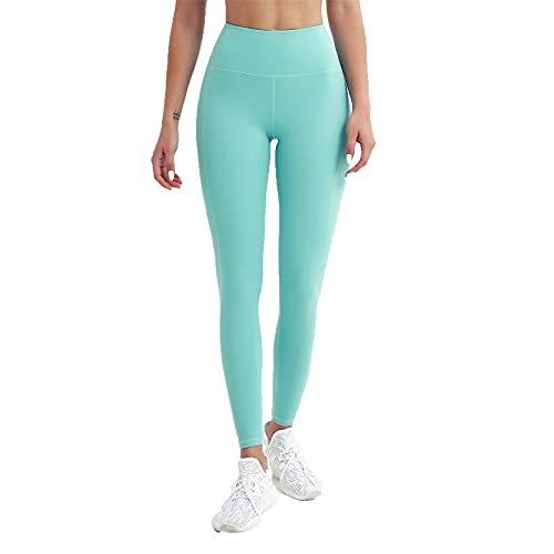 Leggins Mujer Push Up Pantalones Fitness Mallas, Pantalitas de gimnasio de control de la cordillera de la cintura alta de las mujeres Levantamiento de la culata Straight Pantalones de yoga Pantalones