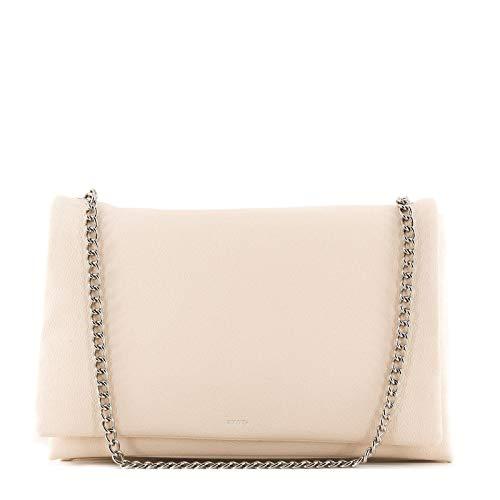 Rouven / Liv 3-Fold Volume 30 Bag/Ivory Elfenbein Helles Beige Creme/Leder Tasche mit Kettenhenkel Schultertasche/edel modern chic minimalistisch / 30x20x10cm