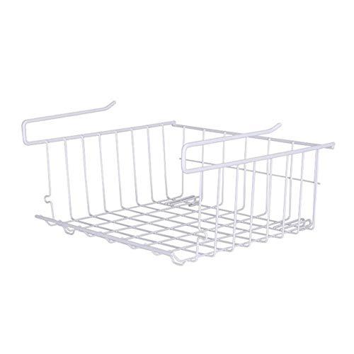 ZFFLYH onder plank opslag mandje, opknoping mand opslag metalen draad mand Organizer voor keuken kantoor garderobe badkamer Pantry kabinet