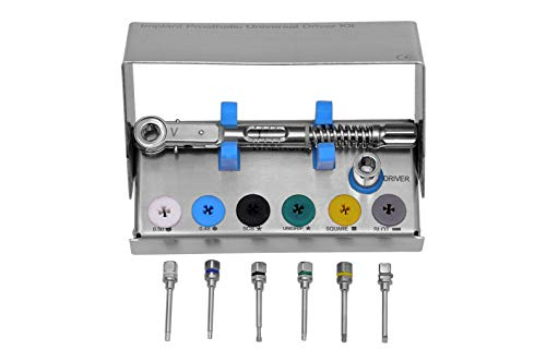 Dental Prosthetic Kit 4mm Square Engagement, Hex Driver 0.050, Hex Driver 0.048, Code DIHD
