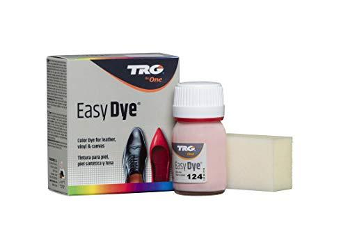 TRG The One - Tinte para Calzado y Complementos de Piel | Tintura para zapatos de Piel, Lona y Piel Sintética con Esponja aplicadora | Easy dye #124 Rosa, 25ml