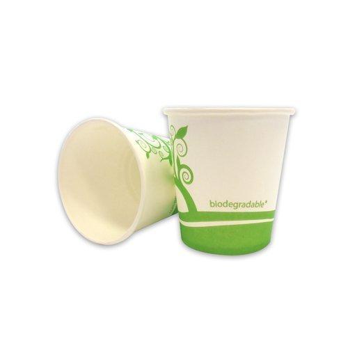 Unidades 160 vasos de papel biodegradables compostables ml 120 ...