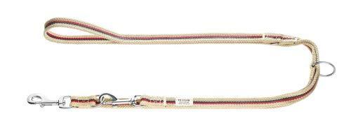 HUNTER New Orleans Verstellbare Führleine für Hunde, mit Baumwolle, wasserabweisend, strapazierfähig, 2,0 x 200 cm, Stripes/beige