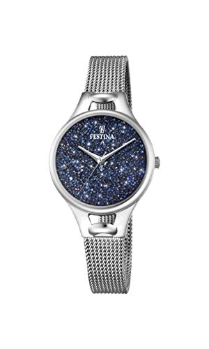 Festina Damen Analog Quarz Uhr mit Edelstahl Armband F20331/2