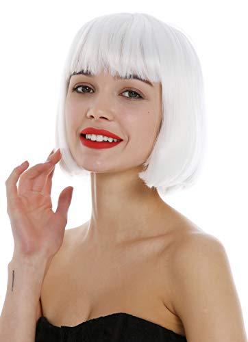 obtener pelucas blancas cosplay cortas