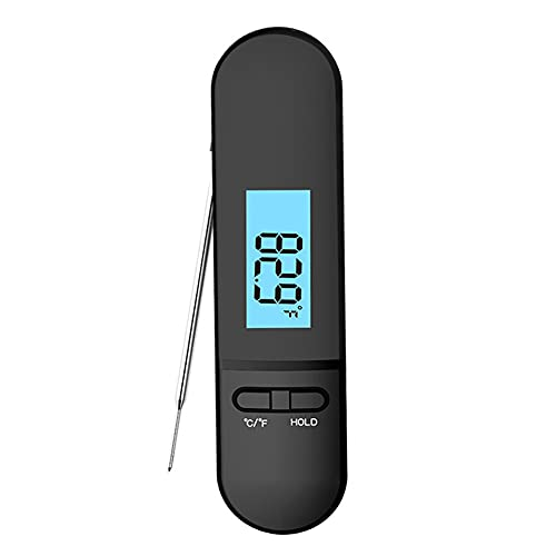 Termometro de Cocina, 3S Lectura Instantánea, Termómetro Carne Digital con Sonda Plegable de Acero Inoxidable, IP67 Impermeable, Termometro Cocina para BBQ Comida Agua Leche Aceite Líquido