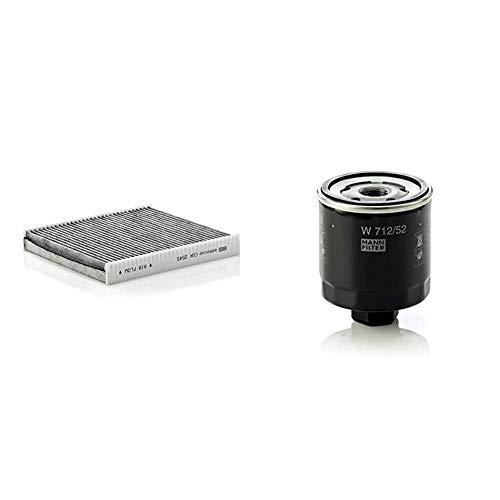 Original MANN-FILTER Innenraumfilter CUK 2545 – Pollenfilter mit Aktivkohle – Für PKW & Ölfilter W 712/52 - Für PKW