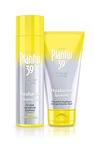 Plantur 39 Hyaluron-Shampoo, 1 x 250 ml + Hyaluron-Spülung, 1 x 150 ml - Verwöhnt trockene Kopfhaut mit Feuchtigkeit | Gegen menopausalen Haarausfall