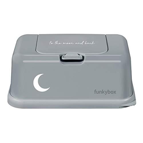 Funky Box Gris Luna - Estuches y dispensadores para toallitas, unisex