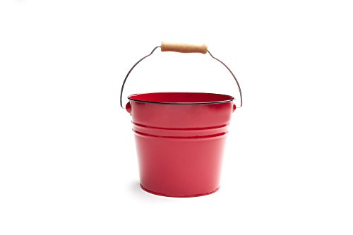 Nantucket Seafood Red Serving Pail Ice Bucket, 7.25 x 7.25 x 6 inches