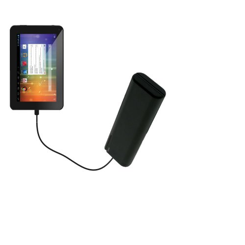 Gomadic Portable AA Battery Pack Designed for The Double Power DOPO EM63 7 inch Tablet - Powered by 4 X AA Batteries to Provide Emergency Charge. Built Using TipExchange Technology
