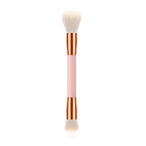 Lot de 2 pinceaux à blush double pinceau en poudre pour maquillage