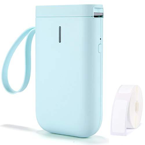 Lenlun D11 - Stampante per etichette portatile, senza fili, portatile, con nastro adesivo, per casa e ufficio, ricaricabile tramite USB, colore: Verde