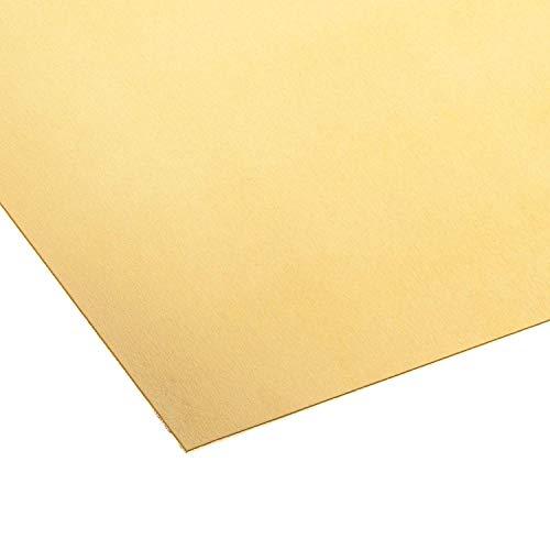 Messingblech 1 mm dick Messing CuZn37 Blech Zuschnitt nach Wunschmaß, einseitig mit Schutzfolie (250 mm x 50 mm)