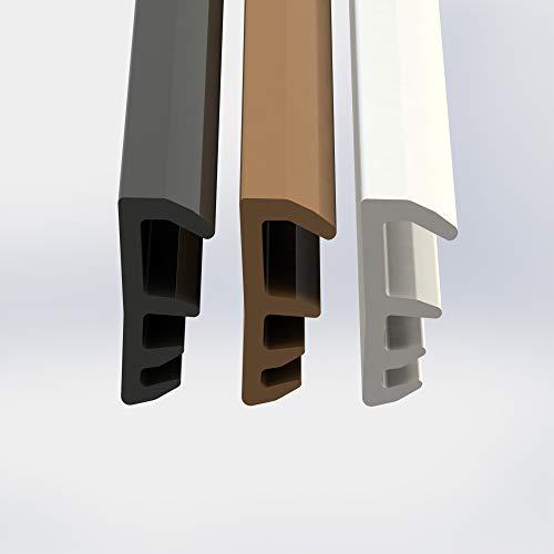 Fensterdichtung Dichtung 5mm Nutbreite 12mm Falz hochwertige Gummidichtung Holzfensterdichtung Stahlzargendichtung Fenster spart Heizkosten 5 Meter weiß