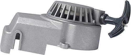 Poweka Seilzug-Starter für Pocketbike 49cc 47cc 2-Takt Mini Atv Quad Aluminium, Silber