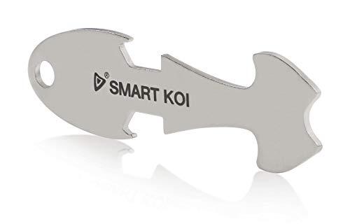 Festland DESIGN – Einkaufswagenlöser SMART KOI - Sofort Abziehbarer Einkaufswagenchip - Schlüsselanhänger mit Flaschenöffner aus Edelstahl - Chip für Einkaufswagen