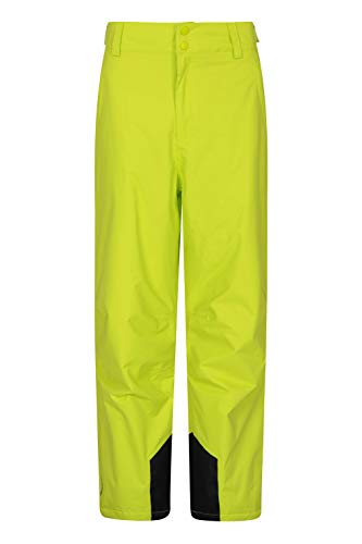 Mountain Warehouse Pantaloni Corti da Sci Gravity da Uomo, Impermeabili, Salopette Calda, Cuciture Nastrate, Abbigliamento da Sci, per Vacanze in Snowboard, Invernale Verde M