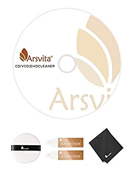 Arsvita Laser Lens Cleaner Disc Cleaning Set for CD / VCD / DVD Player Safe and Effective ARCD-04